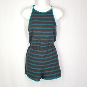 Roxy romper, size Small, striped short romper.